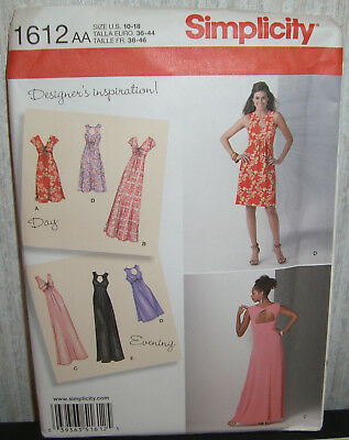 Womens/Misses Knit Dress In 2 Lengths Sewing Pattern/Simplicity 1612/SZ 10-18/UN