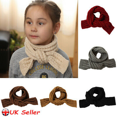 Kids Girls Boys Winter Scarf Warm Toddler Baby Knitting Scarves Neck Warmer Wrap