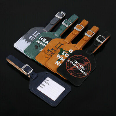 Supplies Leather Baggage Claim ID Address Tags Luggage Tag Suitcase Label