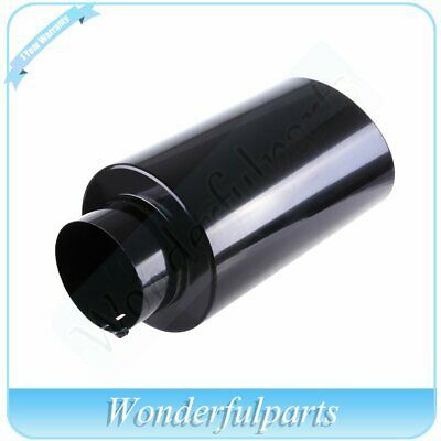 Black 15 inch 5 Inlet 8 Outlet Stainless Truck 203209 Bolt On Exhaust Tip