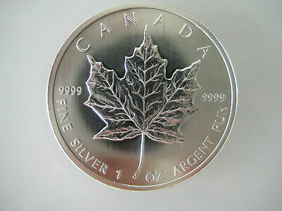 Lot Of 6 New Uncirculated 2012 Canadian 1 oz .9999 Pure Silver Maple Leaf Coins