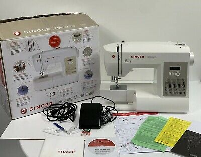 Barely Used Singer Sewing 6180 Brilliance Sewing Machine, White/Gray