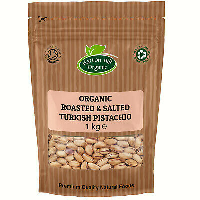Organic Roasted & Salted Pistachio in Shell 1kg Certified Organic