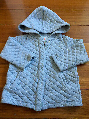 Country Road Girls Or Boys Grey Quilted Jacket Size 2 (18-24months) EUC