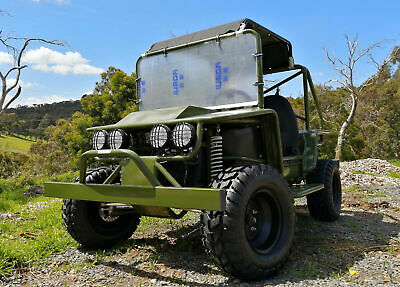 Large Off road Jeep 200cc Twin Seat For Adult Kids hunting steel panels
