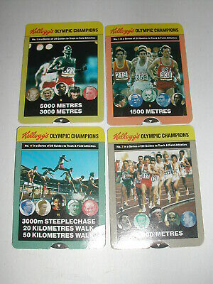 Kelloggs Olympic Champions 4 Card Lot 1991