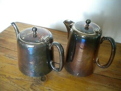 Vintage Silver Plated Teapot & Matching Water Jug E.p.n.s.
