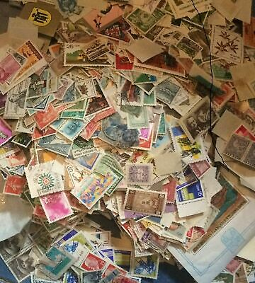 All World 500 gms off paper kiloware stamps from old collections Superb