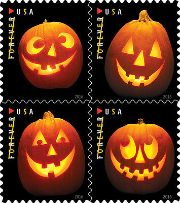 US Scott #5137-5140 Jack O Lanterns Block of 4 From Booklet MNH***FREE SHIP***
