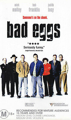 BAD EGGS  Mick Molloy / Judith Lucy / Bob Franklin  VIDEO VHS Pal    SirH70