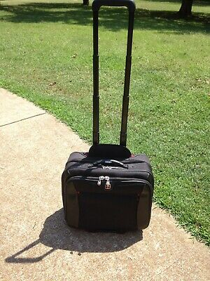 "WENGER SWISS GEAR Rolling Carry-On Computer 17"" Laptop Briefcase Day Bag Potomac"