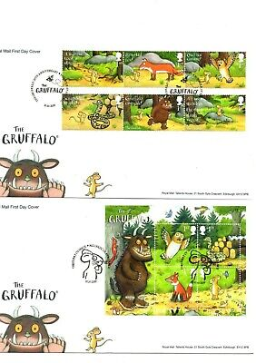 2019 GB THE GRUFFALO First Day Cover Stamps -Mini Sheet FDC 10/10/2019 MOUSEHOLE