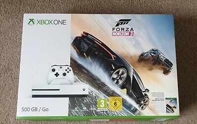 Microsoft Xbox One S 500GB Home Console - headset, play n charge, Halo 5