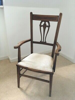 Beautiful Small Edwardian Antique Inlaid Mahogany Chair with arms