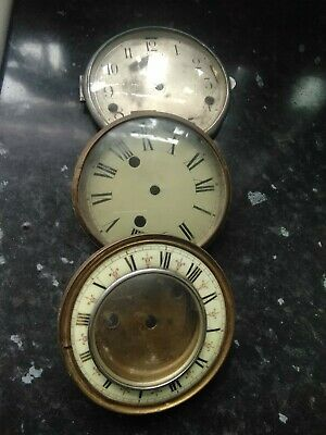 Antique large  Clocks Faces With Glass, x3