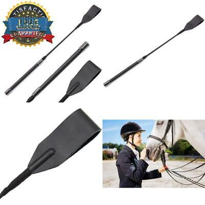 """18/"""" Real Riding Crop English Whip with Genuine Leather Top"""