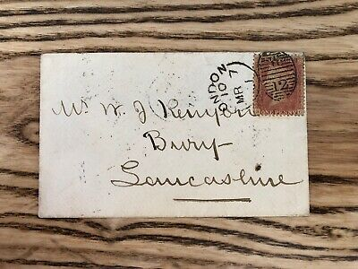 Queen Victoria Stamps Penny Red On Cover London Postage