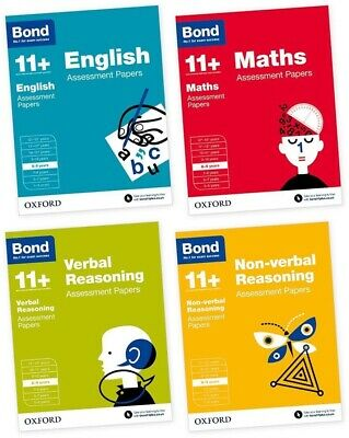 Bond 11 Plus Assessment Papers English Maths Verbal Reason 8-9 Year 4book Set