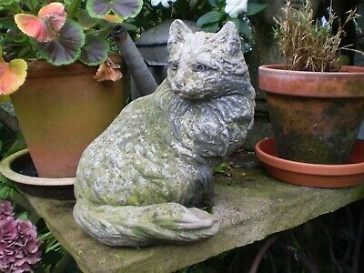 Architectural Salvage, Vintage 1930s French 3 Pattes Jardin Chat Statue, Beau