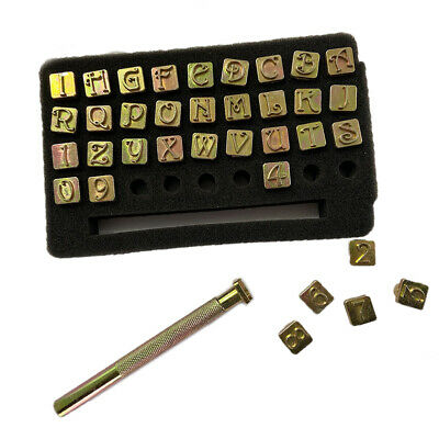 Tool Stamp Punch Leather Word 3/8 inch Alphabet Numbers Letter Digital