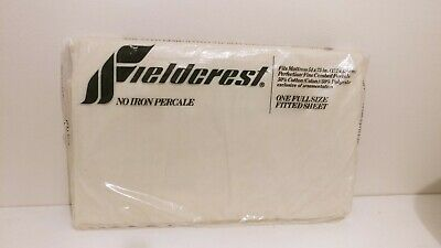 Fieldcrest No Iron Percale Full Size Fitted Sheet New