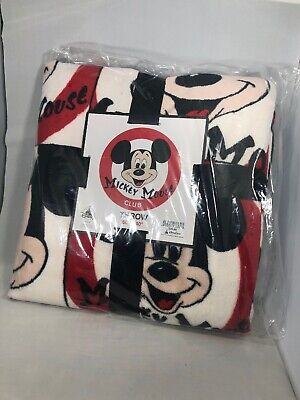 Disney Parks Blanket Mickey Mouse Club Fleece Throw Mouseketeer  New With Tags