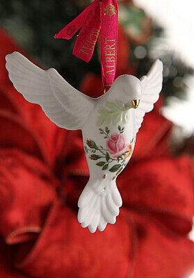 Royal Albert Old Country Roses Dove Of Peace Christmas Ornament