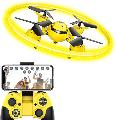 HASAKEE Q8 FPV Drone with HD Camera and Night Light,RC Drones for Kids with Hold