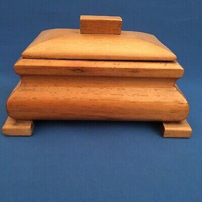 Vintage Wooden Sewing Box With inner tray and lid