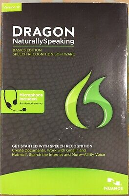 Nuance Dragon Naturally Speaking Speech Recognition Software Version 12