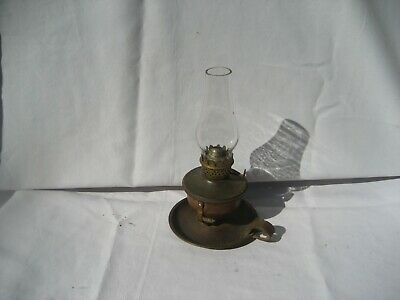 Vintage Small Swivel Table/Wall Mount Privy Copper Oil Lamp