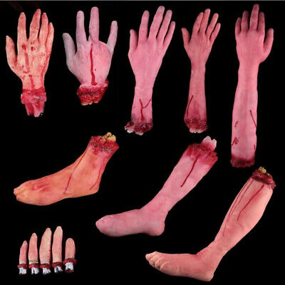 House  Cosplay Halloween Costume Lifesize Bloody Hand Latex Toys Horror Props
