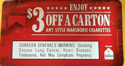1 coupons $3.00 off Marlboro carton cigarettes any style,flavor Exp 12/31/19