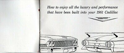 Cadillac 1961 Original Factory Owners Manual  Good Condition