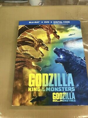 Godzilla King Of The Monsters  Blu-Ray & DVD SLIPCOVER New & Sealed-Fast Ship!