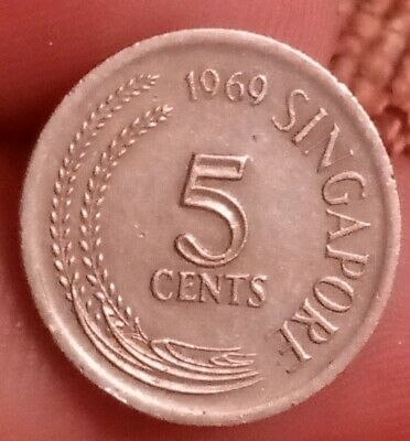 1969 Singapore 5 cents KM# five coin 191019