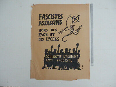 affiche MAI 68 anthentique original d epoque