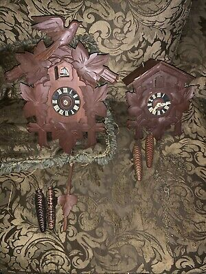 Vintage Cuckoo Clock Mfg Company Made in Germany Untested Parts or Repair