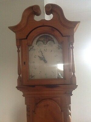 Pine Victorian Long Case/Grandfather Clock