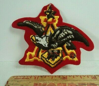 Vtg 80s NOS Anheuser-Busch Beer Eagle Budweiser Iron Or Sew On Shirt Hat Patch