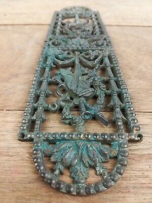 Antique ornate Gilted Cast Brass Finger Plate  door old reclaimed