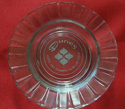 Vintage Dunes Hotel & Country Club Las Vegas Advertising Glass Ashtray