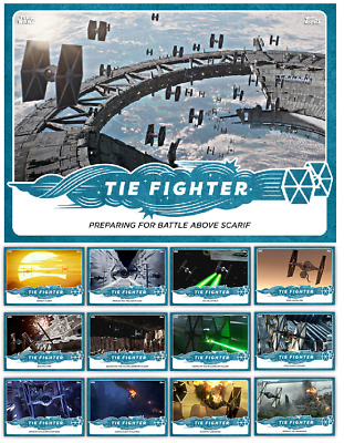 Tie Fighter Moments-13 Card Standard Set-Topps Star Wars Card Trader