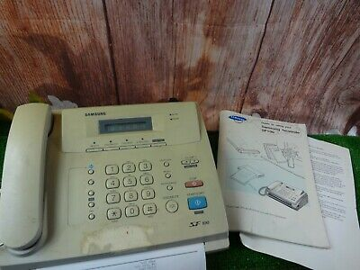 Vintage Samsung SF100 Personal Facsimile office laser Fax Machine/ phone + extas