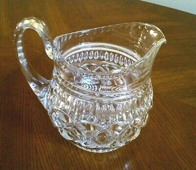Antique / Art Deco Glass Two Pint Large Water Pitcher Jug Stunning Patterns