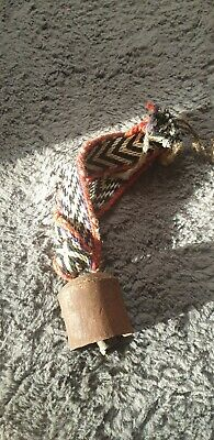 Vintage Cow Bell On Woven Band
