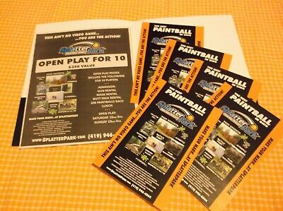 10 PAINTBALL PASSES to SplatterPark PAINTBALL & Airsoft GAMES -MOUNT GILEAD, OH!