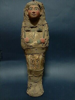 Rare ANCIENT EGYPTIAN ANTIQUE Ushabti Shabti wrapped In Linen EGYPT 1656-1364 BC