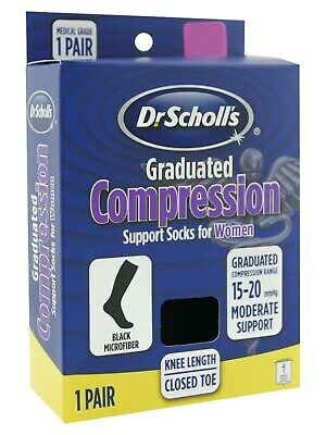 Dr Scholl's Graduated Compression 15-20 mmHg Support Socks Women Small 4-5