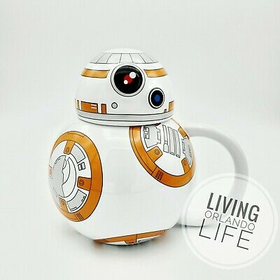 NEW - STAR WARS BB-8 Droid Disney Parks Character Mug with Lid Coffee CUP MUG